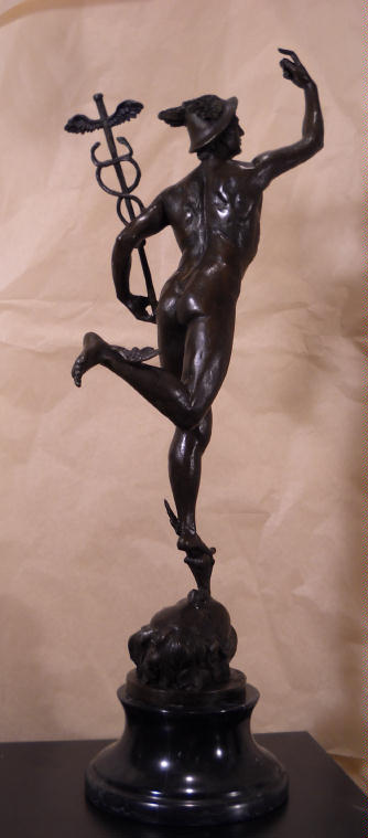 Mercury Sculpture Bronze sculpture.